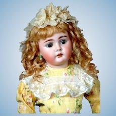 "19.5"" Bahr & Proschild 225 Character Child Antique Doll circa 1898 With 2 Rows of Teeth!"