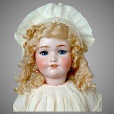 """25"""" Lovely Simon & Halbig 1348 """"JUTTA"""" Antique doll in Lovely Antique Off-White Dress"""