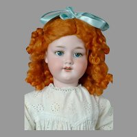 """Adorable 27.5"""" Armand Marseille 390n in White Dress"""