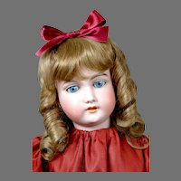 """Darling 23"""" Armand Marseille 390 in Red Dress"""