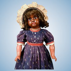"21"" Super Rare Black Bahr & Proschild 247 Character Child Antique Doll circa 1898 in Antique Costume!"