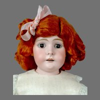 "Sweet 23.5"" Kidskin Doll in Adorable Pale Pink Costume"