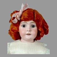 "Sweet 23.5"" Kestner Doll in Adorable Pale Pink Costume"