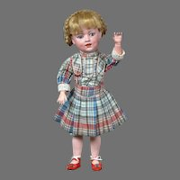 """16"""" Rare Gebruder Heubach Character """"Dolly Dimple"""" Antique Doll circa 1912-1920"""