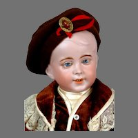 "Precious 17"" SFBJ 237 Character Boy with Jewel Eyes"