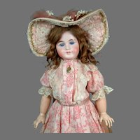 """23"""" Outstanding French Trade Gebruder Kuhnlens 44-31 in Fabulous French Antique Dress & Shoes"""