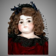 """Enchanting 23"""" Turned-Head Closed-Mouth Doll with Gorgeous Black Veil"""