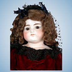 "Enchanting 23"" Turned-Head Closed-Mouth Doll with Gorgeous Black Veil"