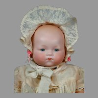 "Darling 16"" Armand Marseille ""Dream Baby"" in Lacy White Costume"