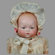 """Darling 16"""" Armand Marseille """"Dream Baby"""" in Lacy White Costume"""