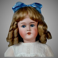 "Sweet 29"" Queen Louise Antique Doll c1900 in Crispy Whites"