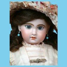 """Charming 23"""" Bebe Jumeau 1907 Size 10 Bebe with Jumeau Factory Dress & Wig"""