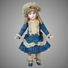 "French 20.5"" Bebe Jumeau 8 with Blue Paperweight & Lovely Silk Frock circa 1895!"