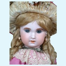 """Darling 26.5"""" Bebe Jumeau 1907 Size 12 with Original Wig & Shoes"""
