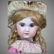 "Darling 26.5"" Bebe Jumeau 1907 Size 12 with Original Wig & Shoes"