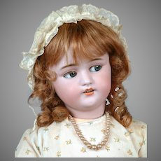 "24"" Very Rare French Flirting Mechanical Roulet & Descamps Walking Doll with Simon & Halbig 1078 Head"