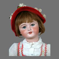 """All Original 27"""" UNIS 301 Antique French Bebe Doll in Wonderful Antique Costume"""