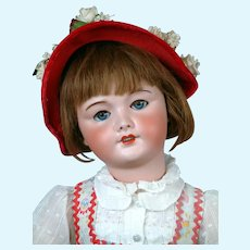 "All Original 27"" UNIS 301 Antique French Bebe Doll in Wonderful Antique Costume"