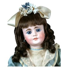 """Rare 24"""" Closed-Mouth Bahr & Proschild 224 Antique doll with Blue Paperweight Eyes"""