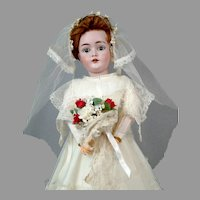"*Here Comes The Bride* 18"" Kestner 162 on Original Lady Body in Gorgeous Bridal Costume"
