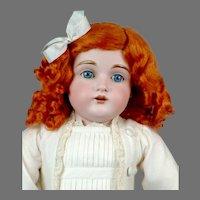 "Adorable 21.5"" Kestner 154 in Sweet White Frock"
