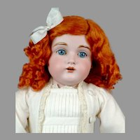 "Adorable 21.5"" Kestner 154 in Sweet White Frock"