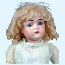 "Adorable 17.5"" Kestner 152 in Sweet Blue Dress"