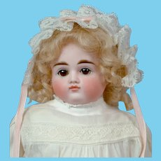 "Angelic 16"" Turned Shoulder Head Kestner in Sweet White Vintage Costume"