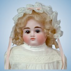 "Angelic 16"" Turned Shoulder Head Kestner in Sweet White Vintage Costume"