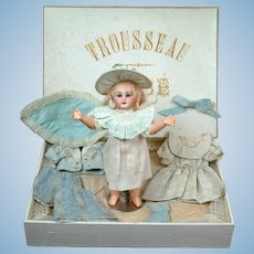 """Factory Original 10"""" DEP French BEBE in Trousseau Presentation Box... Absolutely Gorgeous!"""