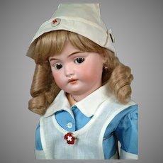 "20"" Rare Simon & Halbig Flirting 1039 Dressed as a Nurse"