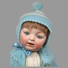 """Sammy"" Baby Character Doll 18"" Kestner 211 in Blue Playsuit"