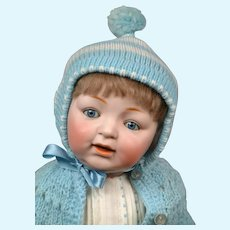 """Sammy"" Baby Character Doll 18"" Kestner 211 in Blue Playsuit"