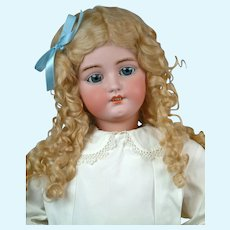 "Huge 34"" Darling Simon & Halbig 1078 Classic Bisque Antique Child Doll in White Antique Dress"
