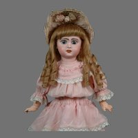 """19.5"""" French Bebe Jumeau circa 1895 is """"Pretty in Pink""""  with her Wonderful Antique Dress--WOW!"""