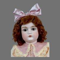 """Adorable 20"""" Letter Kestner in Sweet Pink Frock"""