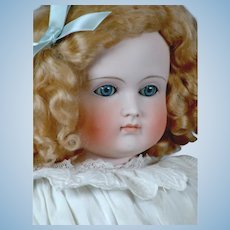 """25"""" Turned-Head Closed-Mouth Pouty Kestner Lady in Antique Whites!"""
