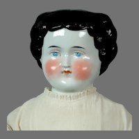 """Lovely 19"""" China Shoulder Head Doll with Original Dress"""
