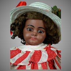 """19""""Rare Black All Original Simon & Halbig 739 Antique Doll"""