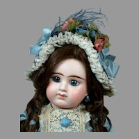"23.5"" Gorgeous Etienne Denamur Closed-mouth French Bebe Circa 1889 E10D"