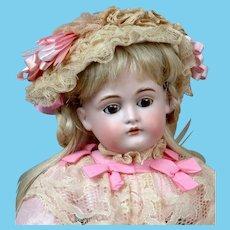 """Adorable 15.5"""" Kestner 167 in Pink Dress"""