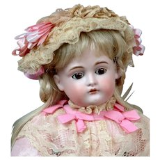 "Adorable 15.5"" Kestner 167 in Pink Dress"