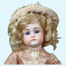 "Adorable 16.5"" Closed-Mouth Kestner in Beautiful Antique Dress"