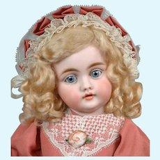 """Darling 13"""" Kestner 143 in Sweet Pink Frock"""