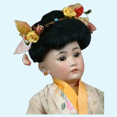 "Adorable 18"" Simon & Halbig 1329 in All Original Japanese Costume"