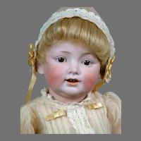 "Absolutely Adorable & Rare 16"" Kestner 220 Toddler in Antique Costume"