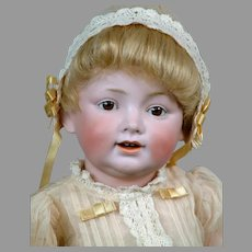 "Absolutely Adorable & Rare 16"" Kestner 220 Toddler in Antique Costume"