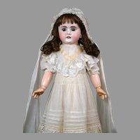 """Bahr & Proschild 208 Antique Child Doll 22.5"""" with Pull String Crier"""