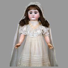 "Bahr & Proschild 208 Antique Child Doll 22.5"" with Pull String Crier"