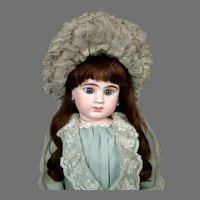 Superb French Silk Chapeau in Pale Blue c. 1885